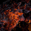 Hot embers - Stock Photo