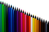 A set of colored pencils isolated — Stock Photo