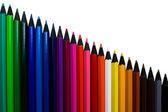 Sada barevných tužek, samostatný — Stock fotografie
