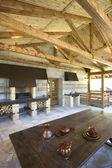 Comfortable veranda in rustic house — Stock Photo