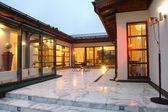 Patio of villa — Stock Photo