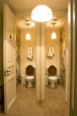 Bathroom in public place with two toile — Stock Photo