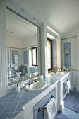 Interior of a bathroom in blue color — Stockfoto