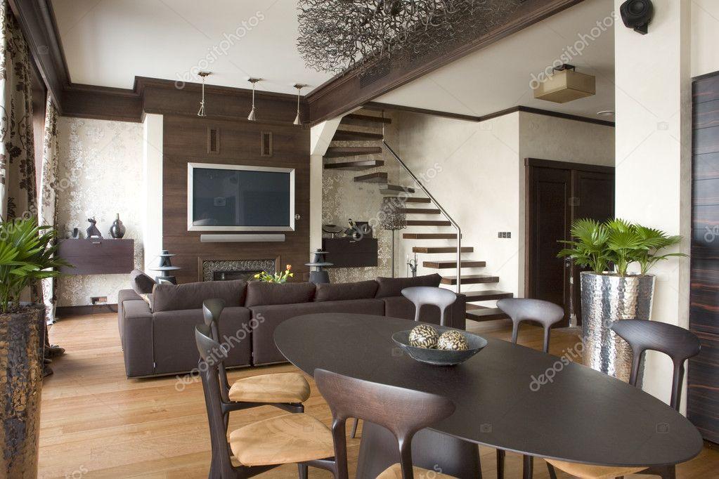 Interno di una sala soggiorno foto stock photosphobos for Living con camino