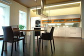 Kitchen and dining room — Stock Photo