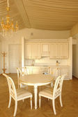 Kitchen and dinning room — Stock Photo