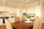 Interior of a dinning room and a kitchen — Stock Photo