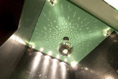 Mirror ball on the ceiling — Stock Photo