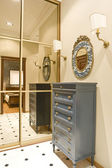 Hall and cabinet with big mirror — Stockfoto