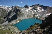 Caucasus mountain lake — Stock Photo