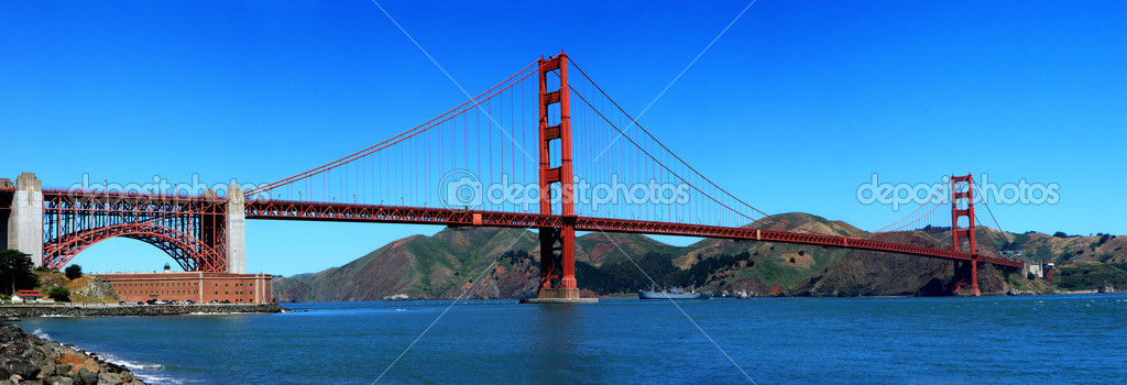 Golden Gate Bridge in San Francisco - California  Stock Photo #3498752