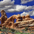South Window in Arches NP - Stock Photo