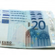 Twenty euros isolated on white — Stock Photo