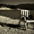 Chair by the Lake — Stock Photo