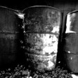 Old rusty oil drum — Stock Photo