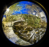 A fisheye view of City — Stock Photo