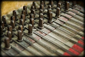 Grunge piano mechanics — Stock Photo