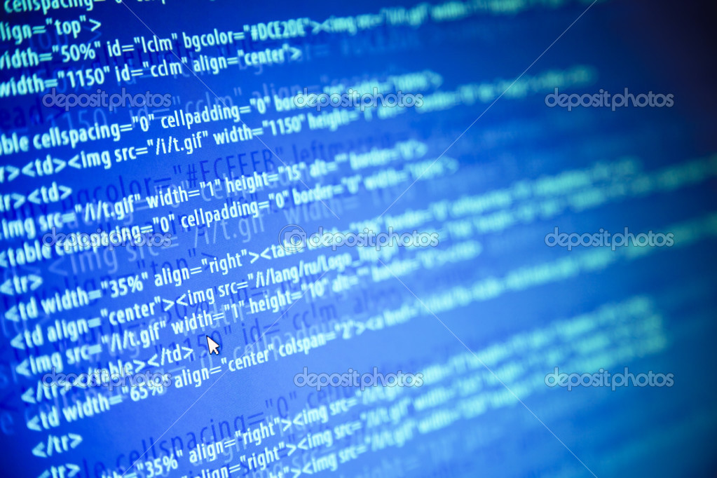 Screens with program web code and mouse — Stock Photo © a_taiga ...