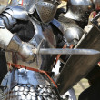 Knight attacks — Stock Photo