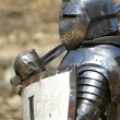 knight in shining armor — Stock Photo