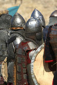 Knights in shining armor — Stock Photo