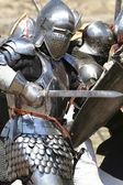 Knight attacks — Stock Photo