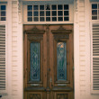 Old House door / split toning - Stock Photo
