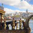 Galata Tower and Golden Horn in Istanbul - Stock Photo