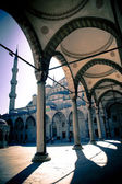 Blue mosque courtyard / Istanbul / split toning — Stock Photo
