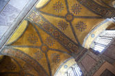 在土耳其伊斯坦布尔/古代马赛克/内饰圣索非亚大教堂 — 图库照片