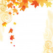 Autumn Background / gold leaves on white background — Stock Vector #3817233