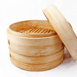 Stock Photo: Bamboo steamer