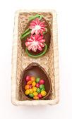 Easter egg open — Stock Photo