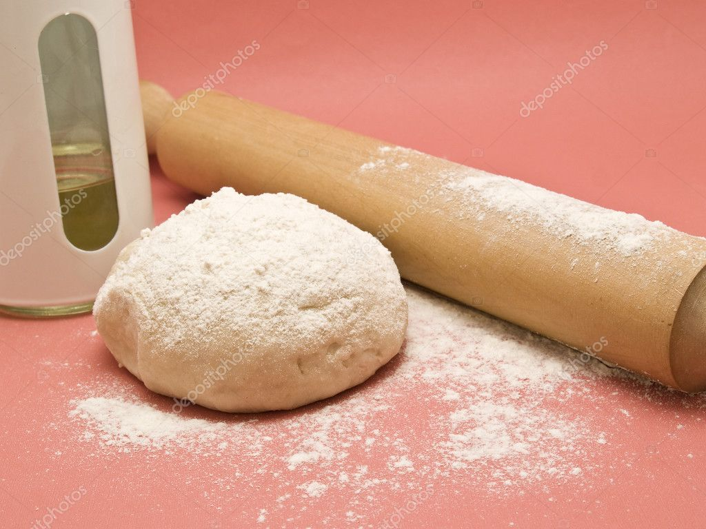 Dough with rolling pin  Stock Photo #3082230