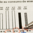 Pen and consumption statistics — Stock Photo #3454239
