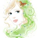 Woman & flora — Stock Vector #3111478