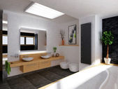 Salle de bain moderne — Photo
