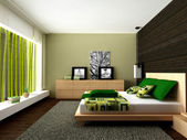 Modern bedroom — Stock Photo