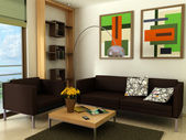 Modern living-room — Stockfoto