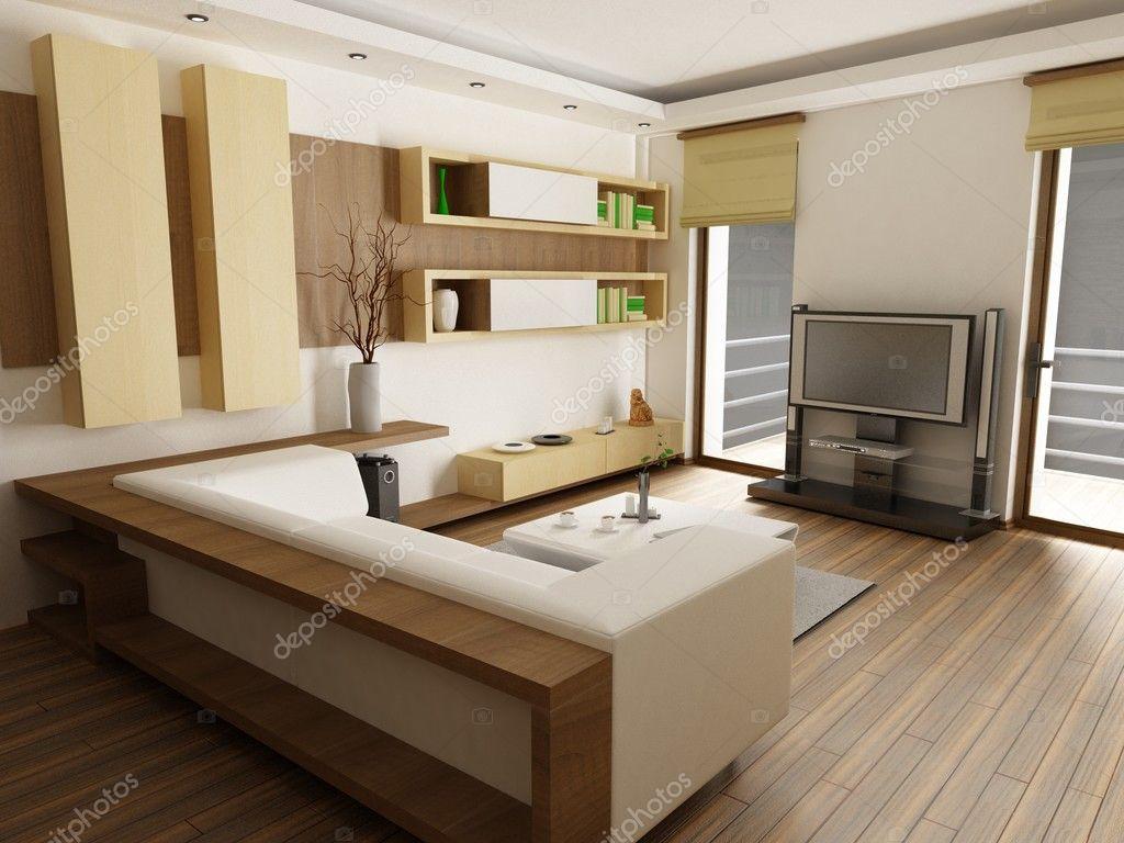 Moderne wohnzimmer — stockfoto © zuzulicea #3884200