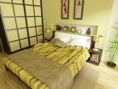 Modern bedroom — Stock Photo