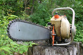 Old chainsaw — Stock Photo