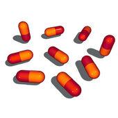9 3d gloomy pop shaded pills — Stock Photo