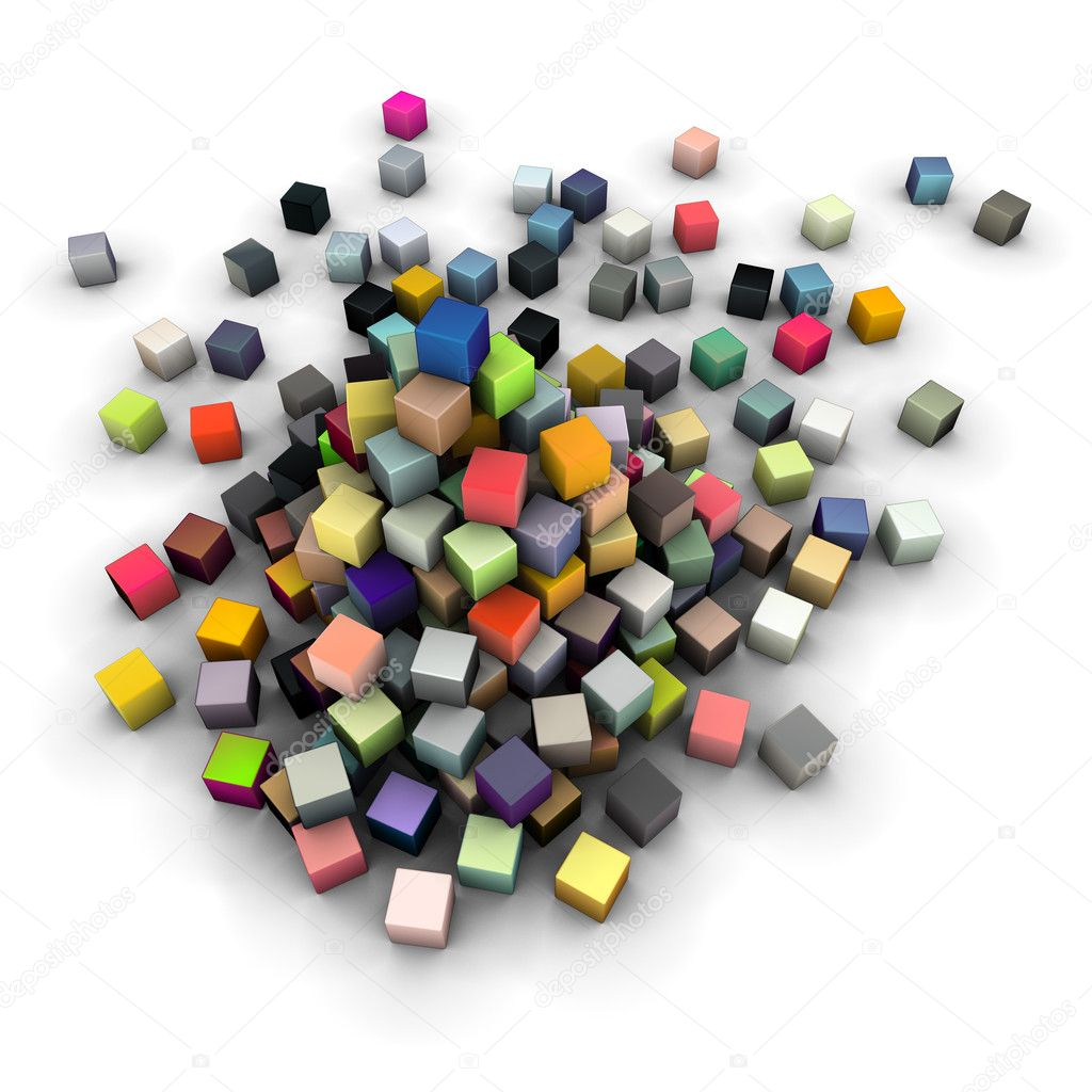 Large stack of colored cubes  — Stock Photo #3068956