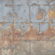 Orange blue gray heavily worn wall — Stock Photo