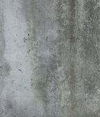 Dirty gray green wall with dirt leak — Stock Photo