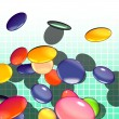 Graphical shaded illustration of candy — Stock Photo