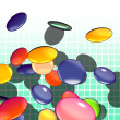 Graphical shaded illustration of candy - Stock Photo