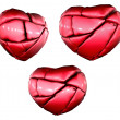 Royalty-Free Stock Photo: 3d render of 3 broken hearts