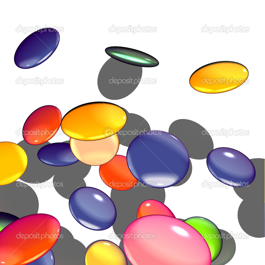 Graphical shaded illustration of candy  — Stock Photo #3156281